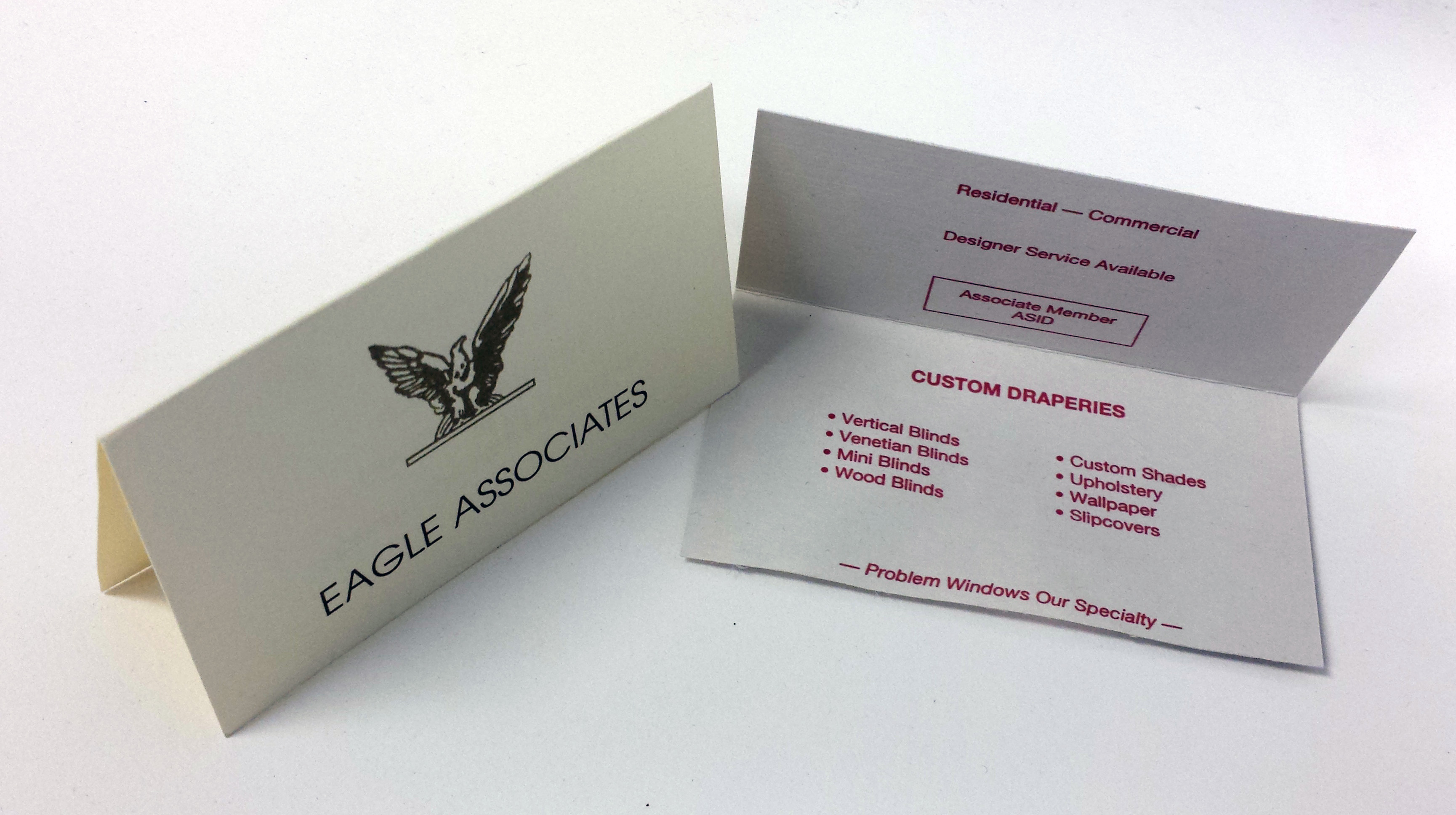 High Quality Fold Over Business Cards Three Sons Printing